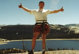 Courtright Reservoir climbing
