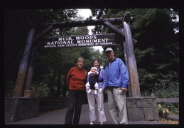 the family at Muir woods