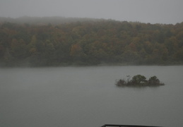 morning fog on an upstate lake
