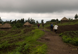 Hiking through the Rwandan countryside