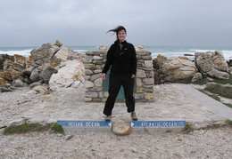Meghan at the Southern-most point in Africa