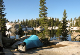 Camping along Granite Lake
