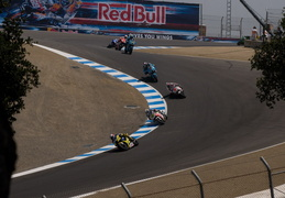 Riding in the corkscrew at Laguna Seca