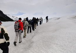ice-hikers on glacier Perito Mereno