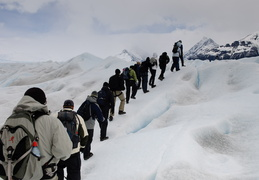 hiking on the glacier