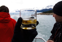 whiskey with glacial ice