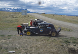 car rally in Patagonia
