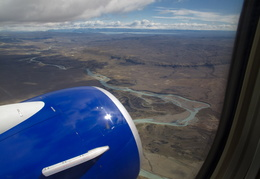 view of Patagonia from the plane