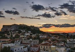 Acropolis and sunset