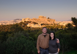 Christian & Meghan in front of the Acropolis
