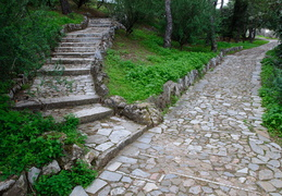 pathways in the parks of Filopappou hill