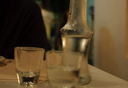 raki, the traditional after-dinner drink of Crete