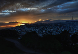 San Francisco sunset, looking South